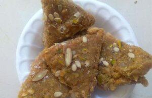 Gond Badam Barfi Recipe