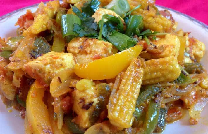 Kadai Baby Corn Recipe