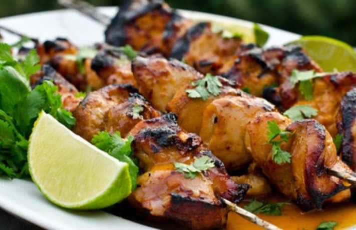 Chili lime chicken kebab Recipe