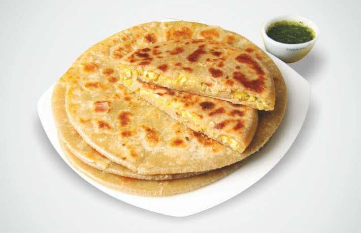 Corn Paneer Paratha Recipe