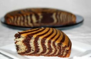 Eggless Zebra Cake Recipe