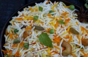 Orange Scented Dry Fruits Shahi Pulao