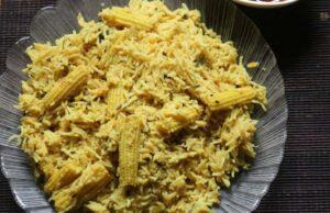 Veg Corn Jeera Rice Recipe