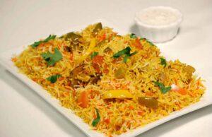Vegetable Hyderabadi Biryani