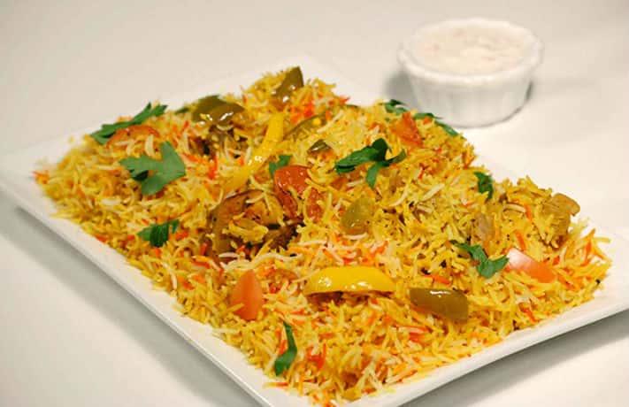 Vegetable hyderabadi biryani indian food recipes vegetable hyderabadi biryani forumfinder Images