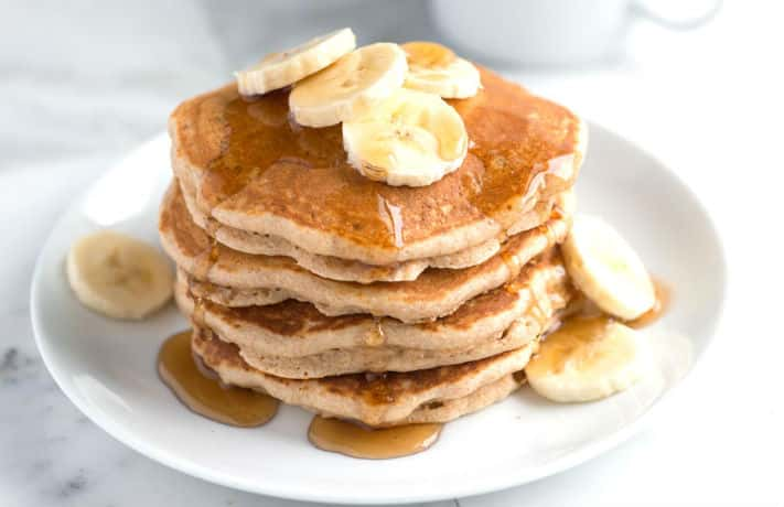 Banana Whole Wheat Pancakes Recipe