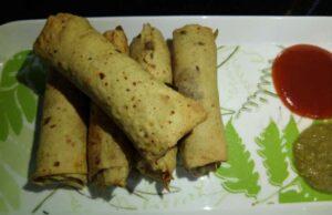Papad and Potato Roll Recipe