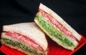 Tri Colour Sandwich Recipe