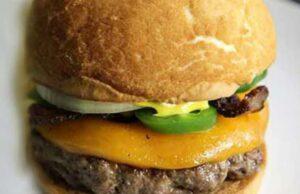 Halopino Garlic Onion Cheese Burger Recipe