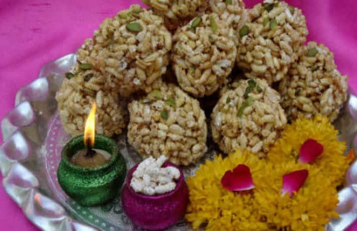 Kheel Ke Laddu Recipe
