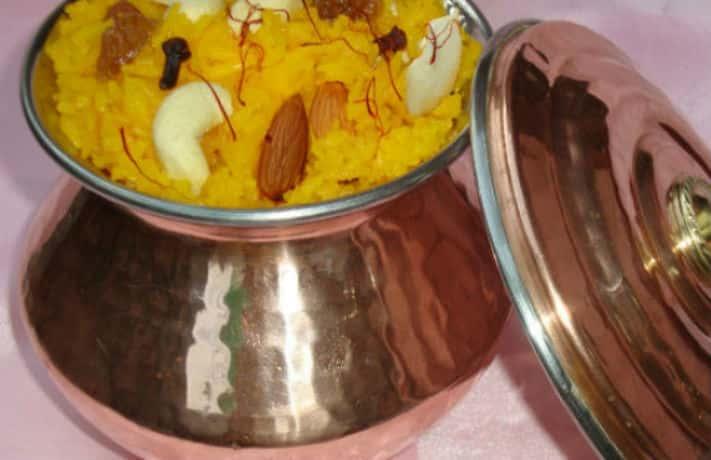 Zafrani Meethe Chawal Recipe