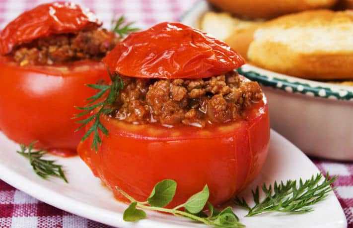 Stuffed Tomatoes Breakfast Recipe
