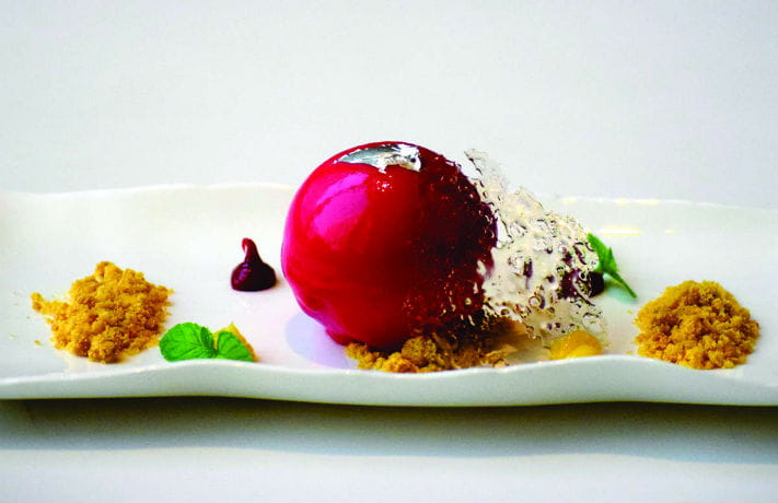 Strawberry Rasgulla Dome Recipe in Hindi