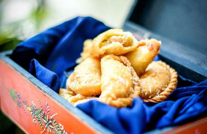 Almond and White Chocolate Gujiya Recipe