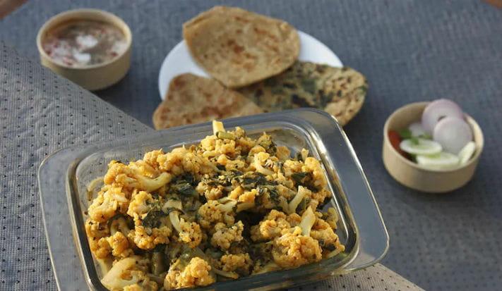 Methi Palak Gobhi Recipe