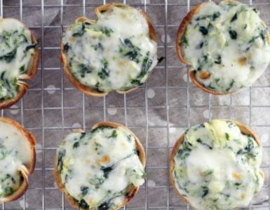 Spinach Tortilla Cups Recipe