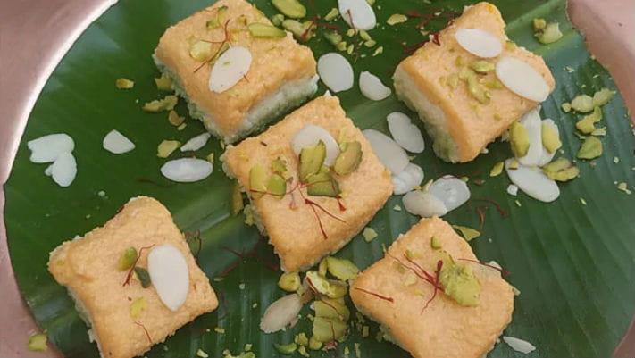 Tiranga Kalakand Recipe