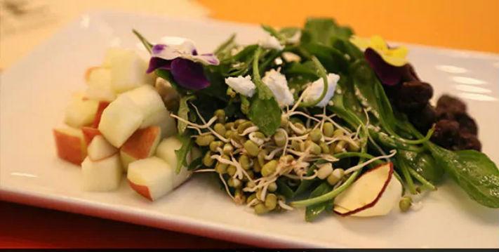 Zad Apple Salad With Winter Greens Recipe