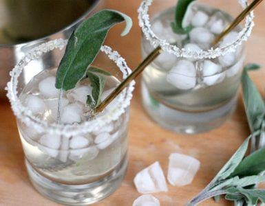 Honey Sage Gin Fizz Recipe