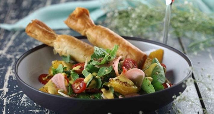 Air Fried Kurkuri with Anardana Churan Recipe