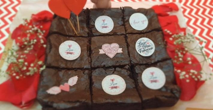 Eggless Red Velvet Cheesecake Brownie Recipe