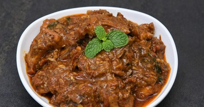 Kadai Chicken Kebab Curry Recipe